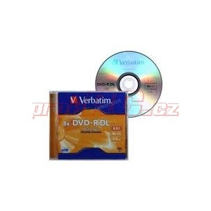 VERBATIM DVD-R DualLayer/Jewel/8x/8,5GB