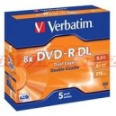 VERBATIM DVD-R(5-pack)DualLayer/Jewel/8x/8,5GB