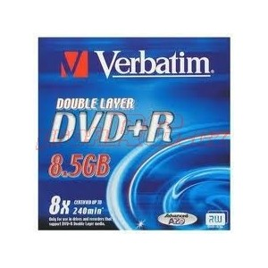 VERBATIM DVD+R DoubleLayer/Jewel/8x/8,5GB