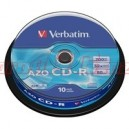 VERBATIM CD-R(10-Pack)Spindle/Crystal/DLP/52x/700MB